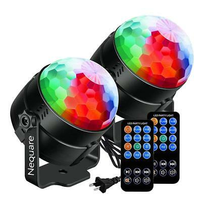 2 pack Sound Activated Disco Ball Strobe Light With 7 Lightning Color New