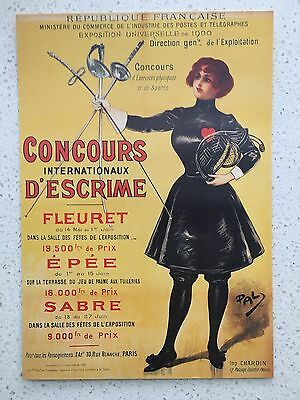 Fantastic 1900 Paris Olympics Postcard - Others Years Available From Aust.
