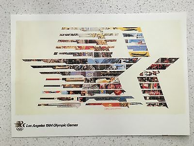 Fantastic 1984 Los Angeles Olympics Postcard - Others Years Available From Aust.