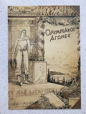 Fantastic 1896 Athens Olympics Postcard - Others Years Available From Aust.