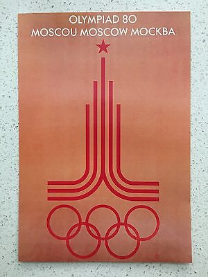 Fantastic 1980 Moscow Olympics Postcard - Others Years Available From Aust.