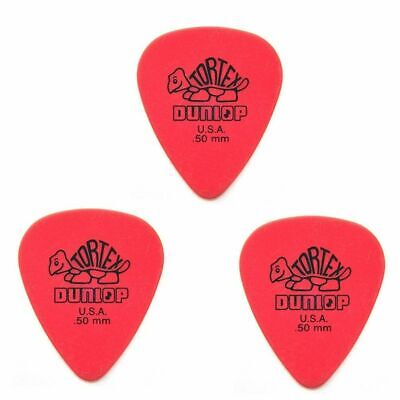 Dunlop 418R.50 Tortex Standard, Red .50mm, 3 picks   Guitar Picks / Plectrums