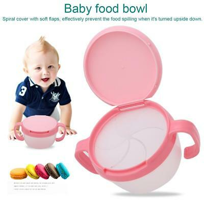 Baby Bowl Child Toddlers Infant Eat Snacks Kids Non Spill Food Plate Lunch Box