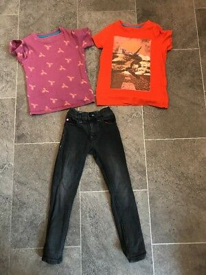 NEXT , JOHN LEWIS Boys Skinny Jeans And T Shirt Bundle Age 5 Years