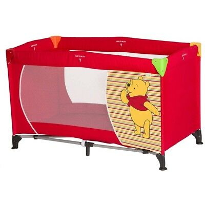 Hauck Dream N Play Travel Cot Pooh Spring Brights Red NEW