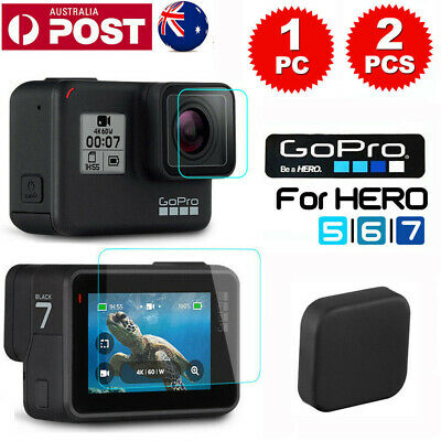 For GoPro Hero 7 6 5 Camera LCD Tempered Glass Screen Protector Guard Cover