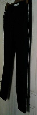 size 14 R black full length jersey leggings side stripe black jean style rrp£24