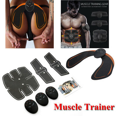 Men Women Abdominal Hip Muscle Trainer Toner Abs Smart EMS Fitness Gym Training