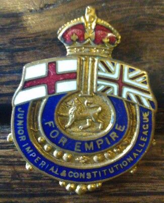 Junior Imperial and Constitutional League - For Empire - enamelled pin badge