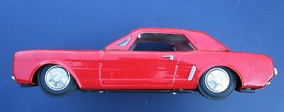 Vintage Tin Toy Ford Mustang 1-18 Red Rare Friction
