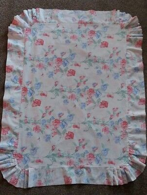 Vintage LAURA ASHLEY Pink & Blue Charlotte Sweetpea Pillow Case bedding