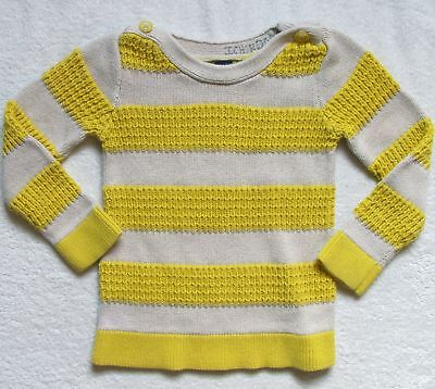 Girls Toddler Baby Gap yellow striped cotton sweater size 4 years 4T