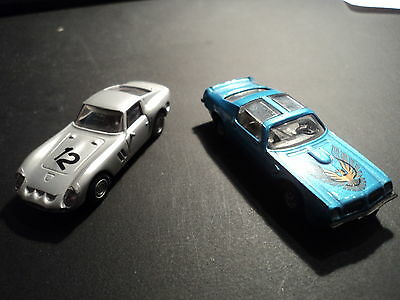 H0 1/87 Modelcar old and rare! Praliné Ferrari GTO and Pontiac Firebird Trans Am