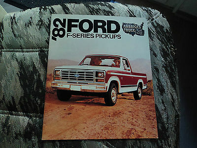 Ford F-series Pickup 1982 New and rare! Brochure Prospekt
