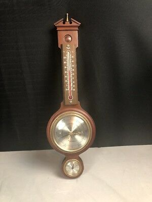 Vintage Barometer Sear Robuck Co. Mohogany Model 6589