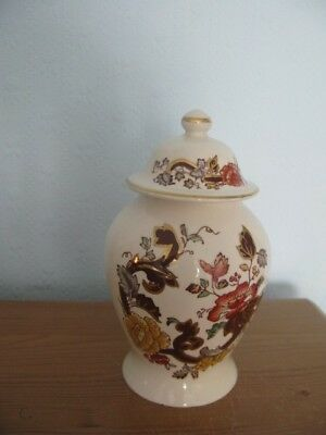 "Masons Ironstone  Small Temple Jar  ""Brown Velvet""  Unboxed, old and used but GC"