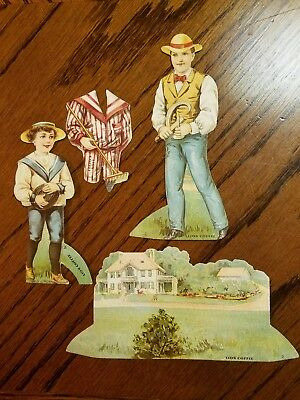 """Lion Coffee Trading Card Doll House """"The lawn"""""""