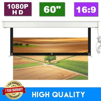 60 Inch 16:9 Collapsible Projection Screen 3D HD Portable Projector Screen UK