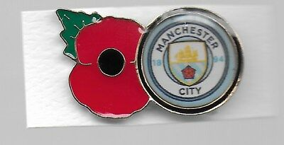 MANCHESTER CITY  POPPY BADGE .10% To Charity