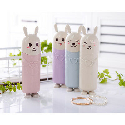 Rabbit TOOTHBRUSH CASE BOX PLASTIC TRAVEL TOOTH BRUSH COVER SEALED HOLDER one
