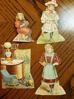 """Lion Coffee Trading Cards Doll House """"The Library """""""