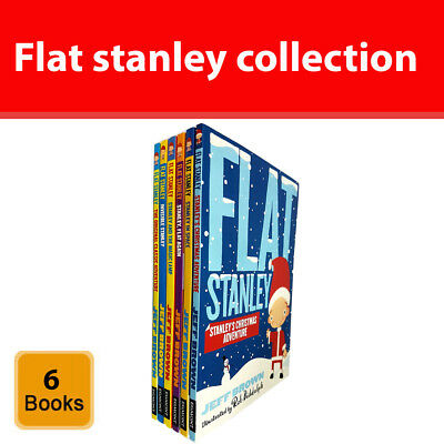 jeff brown Flat stanley collection 6 books set Stanley's Christmas Adventure NEW