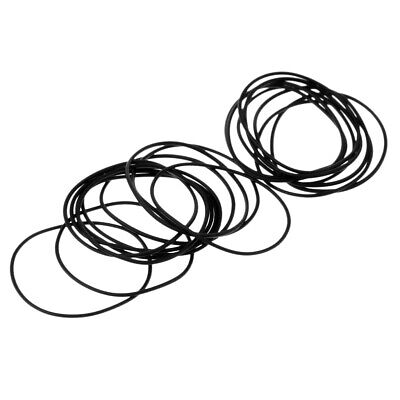 40Pcs Universal Washers Rubber O-Ring Watch Back Cover Seal Gaskets 0.6mm