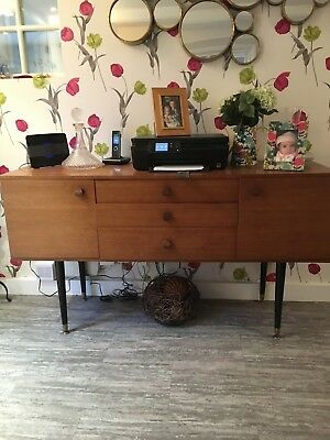 Vintage Retro  Teak Sideboard. Mid Century Cupboards and Drawers 56 inched long