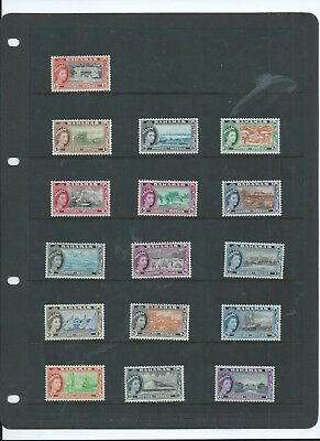 Bahamas   1954-63 Qeii Set Of 16 Lmm