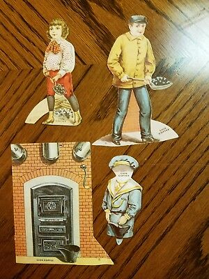 """Lion Coffee Trading Cards Doll House """"the Furnace Room"""""""