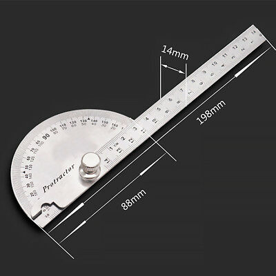Stainless steel 180° Angle Ruler Woodworking Tool Measuring Tools Portable Hot