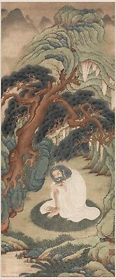 Chinese scroll painting Portrait of sakyamuni by Ding YunPeng in Qing dynasty
