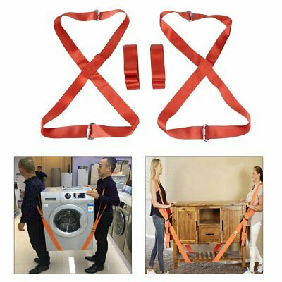 Lifting Moving Straps Harnesses Furniture Cargo Movers Aid Shoulder Dolly Heavy