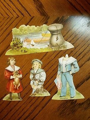 """Lion Coffee Trading Cards Doll House """"the Lake"""""""