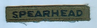 """Us Army """"spearhead"""" Tab - Woodland Subdued, German Made ... Mint"""