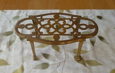 Antique Victorian Brass Trivet Stand-Decorative, Art Nouveau