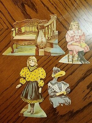 """Lion Coffee Trading Cards Doll House """"the Hall"""""""