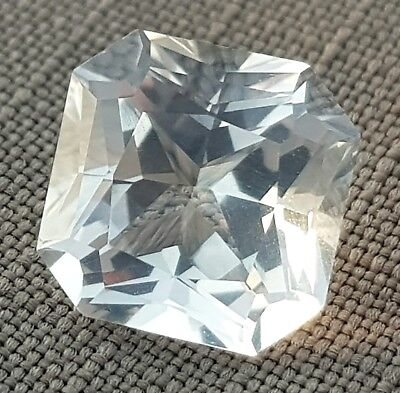 WaterfallGems 5.53ct Clear Quartz, 9.9x9.9mm