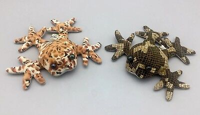 Vintage ToySmith Multi-Colored Sand-Filled Frog Paperweight Toy Kneading Tossing