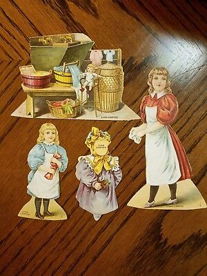 """Lion Coffee Trading Cards Doll House """"the Laundry """""""