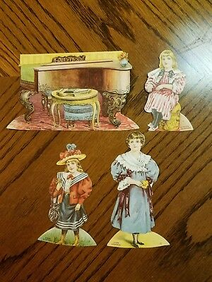 """Lion Coffee Trading Cards Doll House """"the Music Room """""""