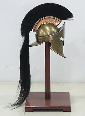 Medieval Armor KING LEONIDAS GREEK SPARTAN 300 Roman Helmet on LONG PLUME KJUI