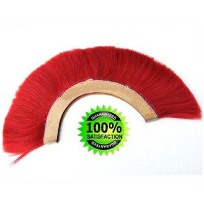 RED PLUME RED CREST BRUSH Natural Horse Hair For ROMAN HELMET ARMOR New IND.