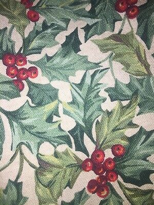 Longaberger Hostess Serving Tray American Holly Fabric Christmas