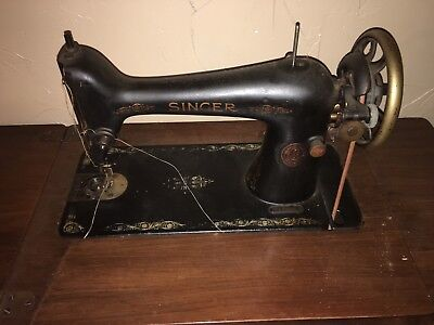 Singer Antique Treadle Sewing Machine & Fancy 7 Drawer Cabinet AS IS