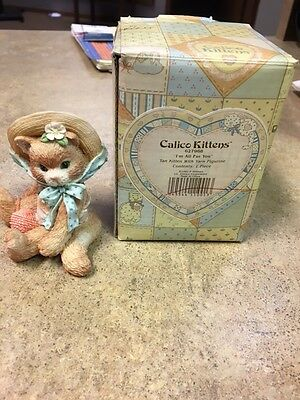 """Calico Kittens """"I'm All Fur You"""" Figurine With Box Collectible"""