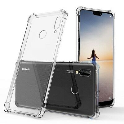 For Huawei P20 Lite Case Cover Silicone Clear Shockproof Hybrid Gel Protection