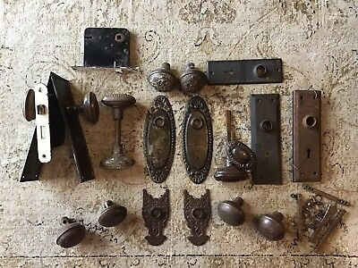 * Brass Doorknobs * Back Plates * Mortise Door Locks * Lot *