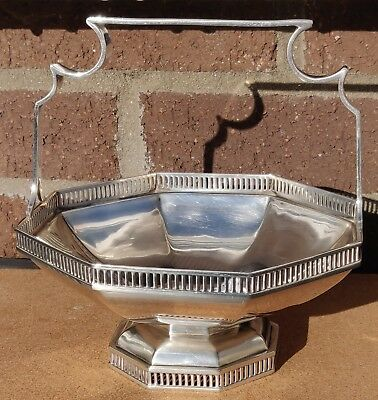 Solid Silver Fruit Sweet Dish Bowl Basket Chester 1930 Pierced 12 oz