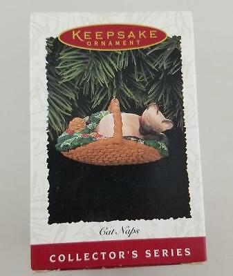1996 HALLMARK Keepsake Ornament ~ CAT NAPS ~ 3rd in series #3 SIAMESE Kitty NIB